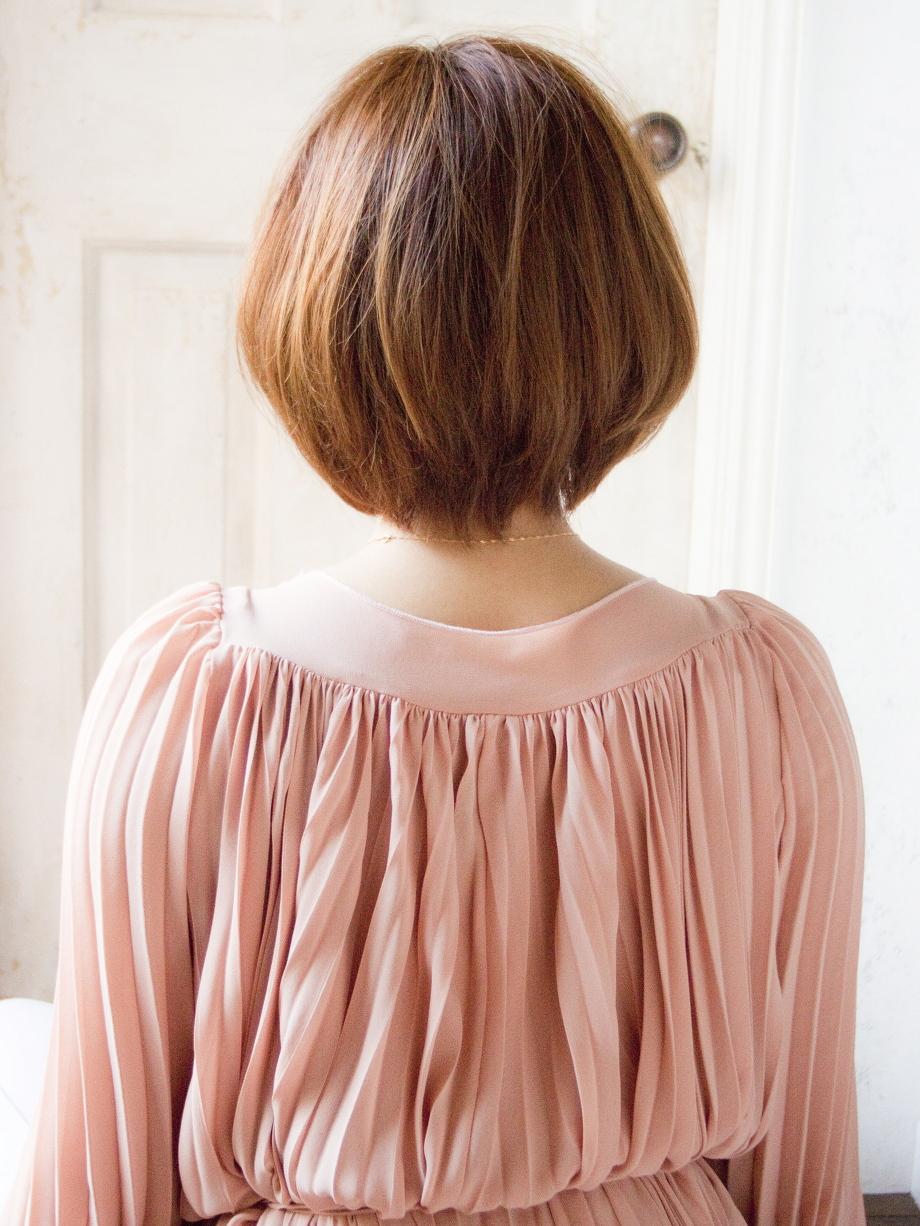 縮毛矯正 画像 ショートスタイル